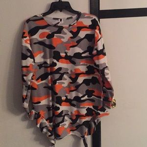 Sweaters - Camouflage Sweater Dress/Top